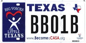 CASA License Plate