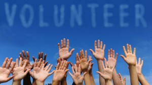 volunteer hands