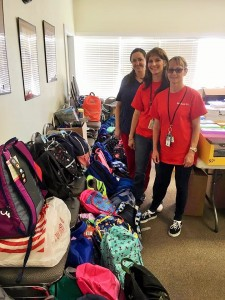 Employees from the VA in Bonham collected an enormous number of supplies this year.