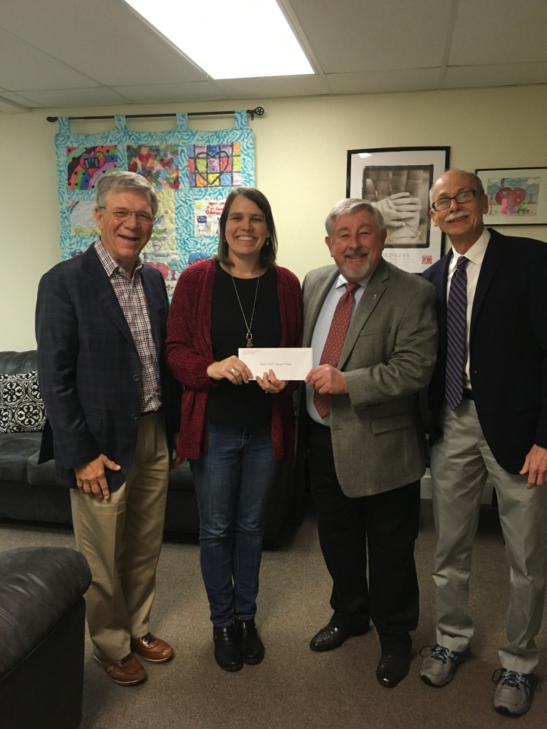 Trustees from the MW and Fair Miller Foundation recently presented a check for $20,000 to the Fannin County Children's Center.  Pictured from left are Dr. Dana Sisk, Sandy Barber, Dr. Jerry Hopson and Tyler Todd.