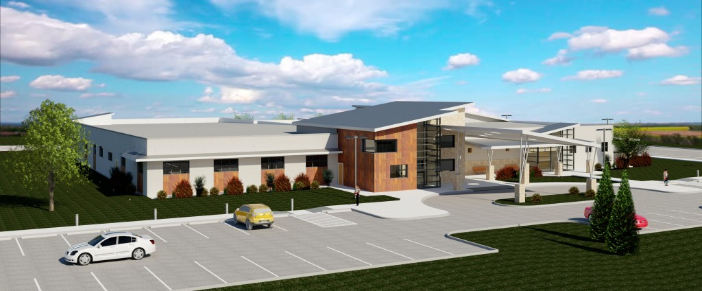 Rendering of the future home of the Children's Center