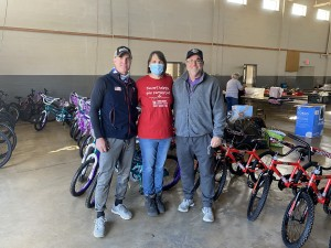 Jamie Lynch and Darrin Chaisson from Gifting The Cycle donated 50 bikes for Christmas!